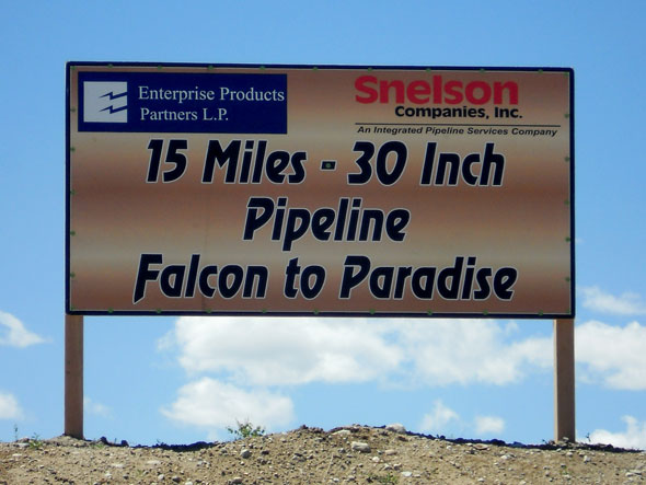 Paradise to Falcon Sign